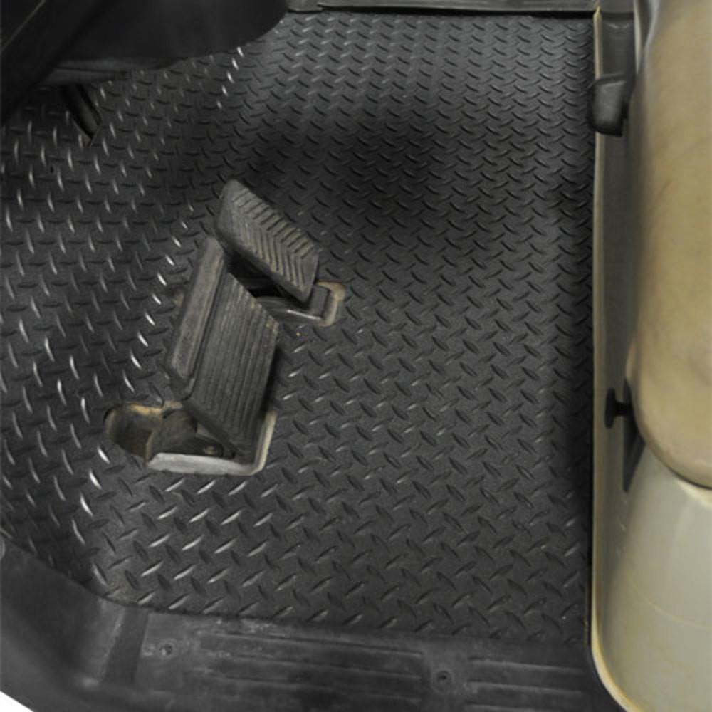 Yamaha Drive Golf Cart Black Rubber Diamond Plate Floor Mat
