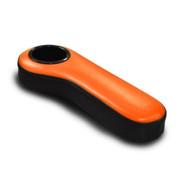 Golf Cart Rear Seat Colored Armrest with Cup Holder - Orange/Black