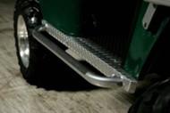 Jake's Golf Cart Nerf Bars with Diamond Plate Rocker Panels for EZGO TXT - 1994-Up - Gunmetal