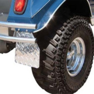 Diamond Plate Mud Flaps for Club Car DS - 1983-Up Golf Cart