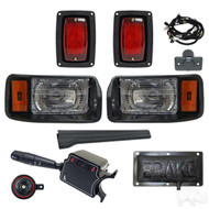 Club Car DS Factory Style Golf Cart Headlight Tail Light Kit with Deluxe Package