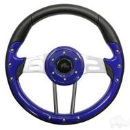 Aviator 4 Golf Cart Steering Wheel (Blue)