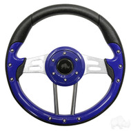 Aviator 4 Golf Cart Steering Wheel (Blue)