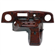 Woodgrain Deluxe Dash With Radio/Speaker Cutouts for EZGO TXT Golf Cart