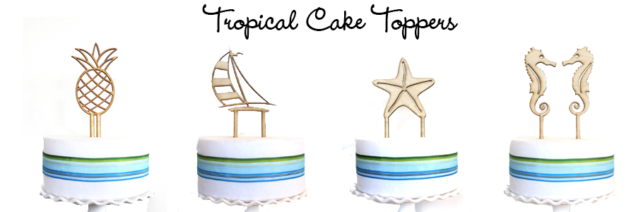Tropical Cake Toppers