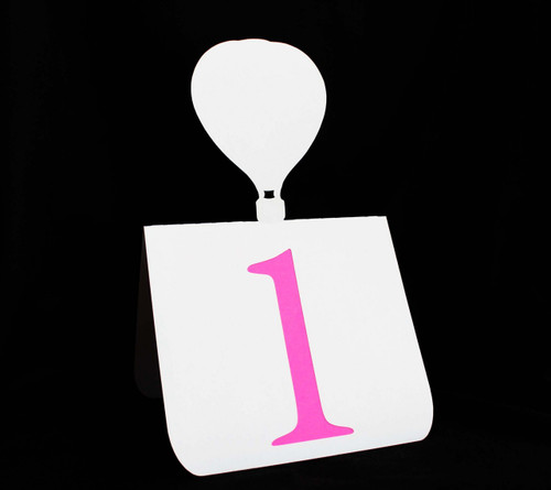 Hot air balloon table number
