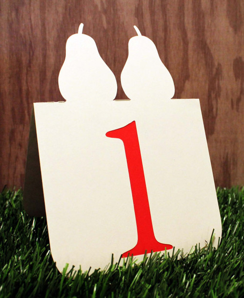 Perfect Pear (pair) table number