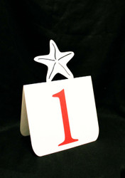 Starfish table number