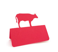 Cow place card - shown in red