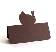 Turkey place card - brown