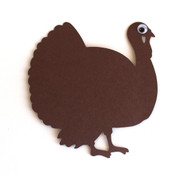 Turkey Thanksgiving Place Cards - Flat