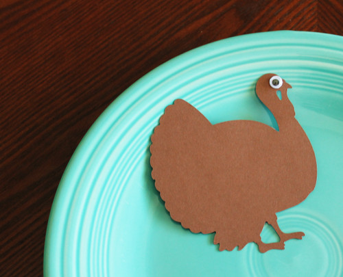 Turkey place card - flat