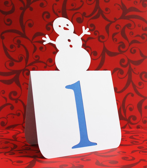 Snowman table number