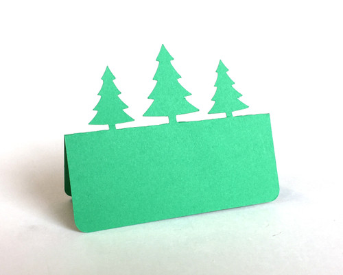Pine tree place card - 3 trees