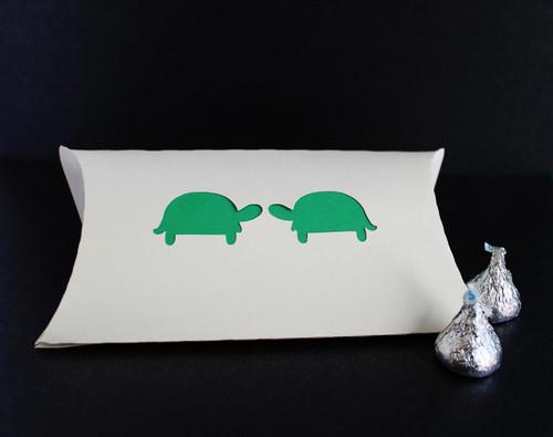 Turtle love pillow favor box
