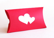 Double heart pillow favor box