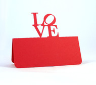 Love Philly place card - shown in red