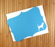 Dog note card