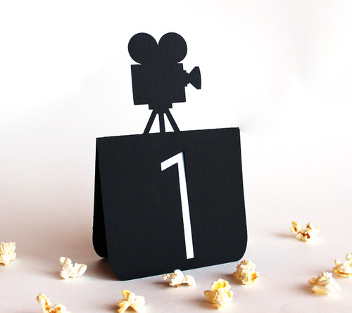 Movie camera table number