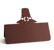 Pilgrim hat place card - brown cardstock