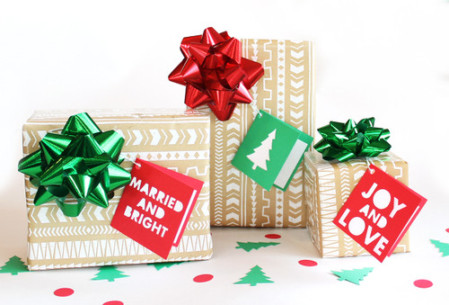 Married and bright gift tag set