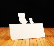 Owl and baby owl place card