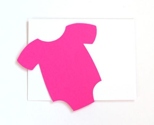 Baby onesie note card