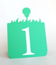 Golf ball table number