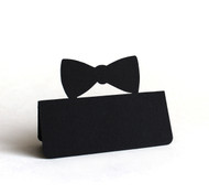 Bow tie place card - shown in black