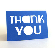 Thank you card - shown in royal blue
