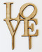 Love philly cake topper - shown in birch wood