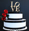 Love philly cake topper - shown in wood