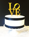 Love philly cake topper - shown in gold acrylic