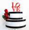Love philly cake topper - shown in red acrylic