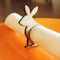 Easter rabbit wood napkin ring - large