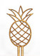 Pineapple cake topper - wood
