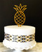 Pineapple cake topper - Gold Glitter