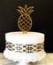Pineapple cake topper - Gold Glitter