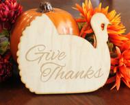 Thanksgiving turkey wood trivet