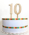 Wood number cake topper