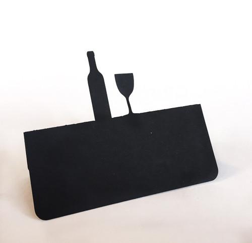 Wine bottle & glass place card