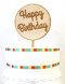 Happy Birthday cake topper