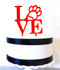 Love philly paw cake topper - red acrylic