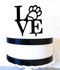 Love philly paw cake topper - black acrylic
