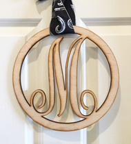 Monogram door sign