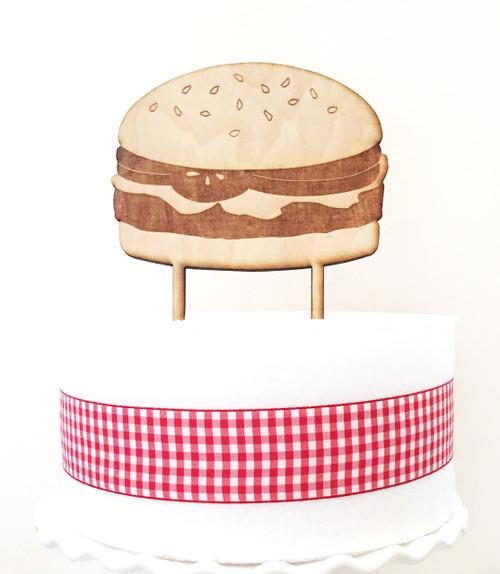 Hamburger Cake Topper