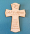 Personalized wedding cross