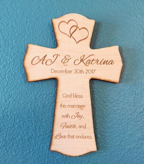 Personalized wedding cross