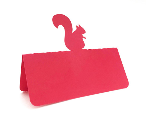 Squirrel place card