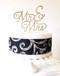 Mr & Mrs Cake Topper - wood